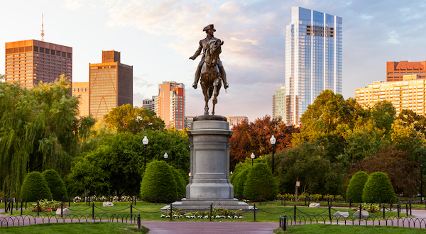 George Washington Statue in Boston Massachusetts