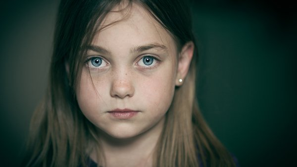 Young Girl Staring Ahead